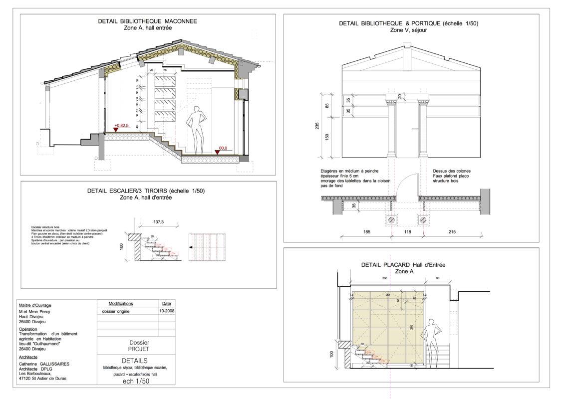 planche graphique maison dans la Drome
