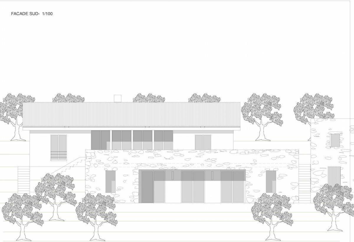 projet de maison en italie facade