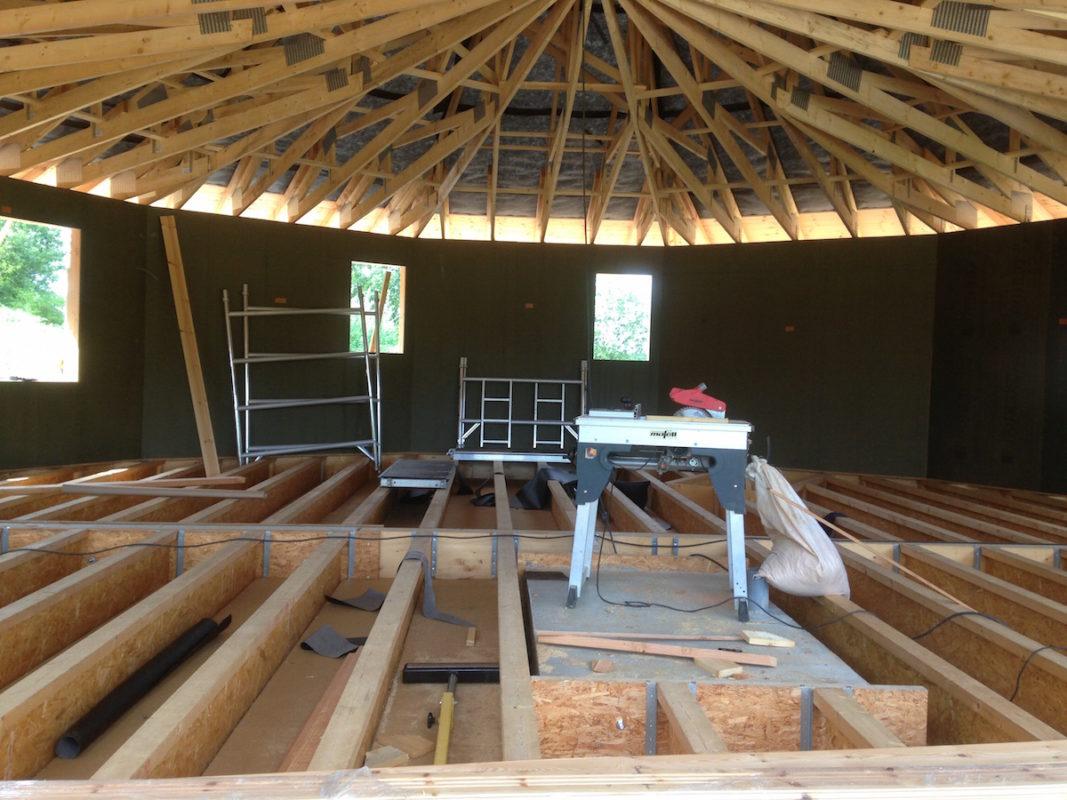 maison cercle nature en chantier