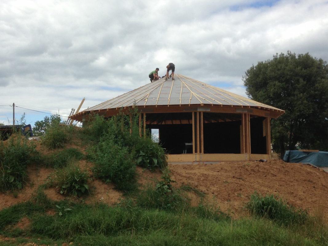 maison ronde et passive en bois