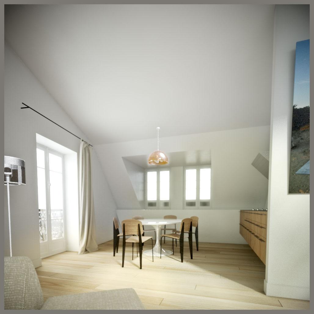 projet d'aménagement d'un appartement pà paris cuisine