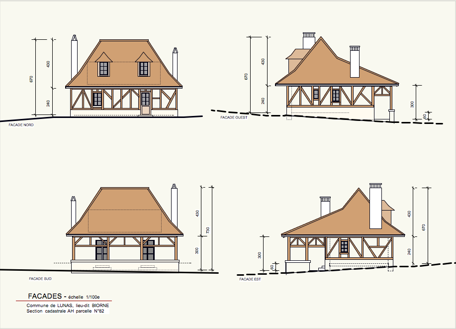 projet et réalisation d'un gite en dordogne facades