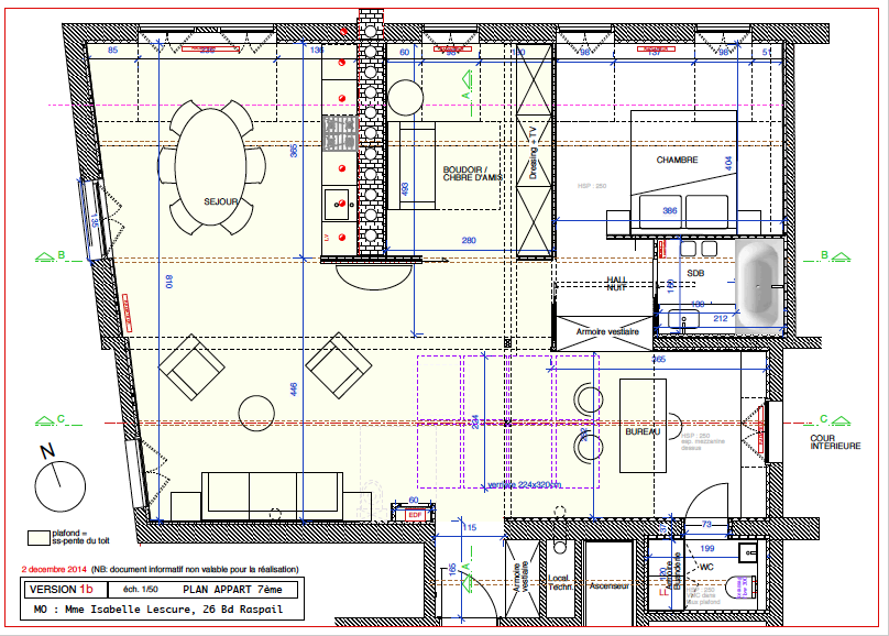 plan appartement paris 7eme