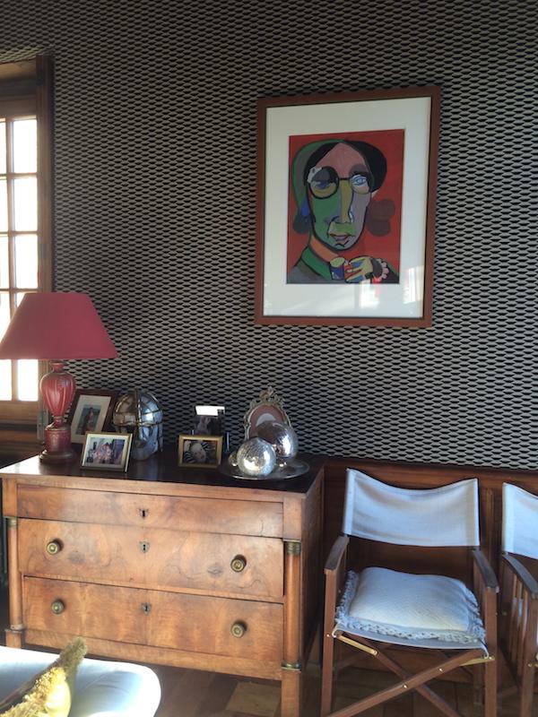 tapisserie au salon du chateau